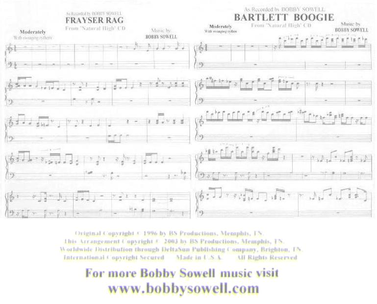 Boby Sowell Sheet Music